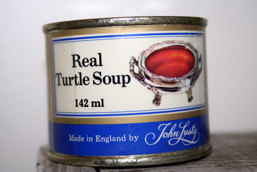 Canned turtle soup.